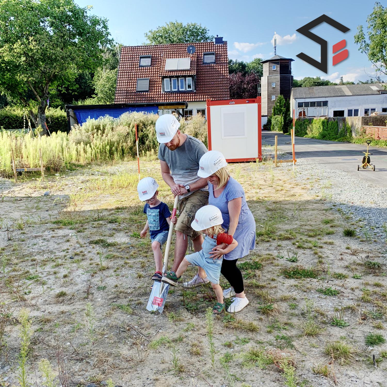 Baustart für ein Einfamilienhaus