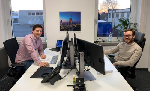 Guten Start bei Splietker Bau in Rot - Felix Küch und Florian Braun
