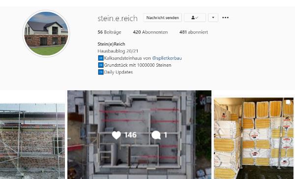 Haus Bau bei Instagram